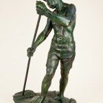 Custodian of the Waves, Bronze, 32x18x13, 2012 Cast from 1996 plaster original.