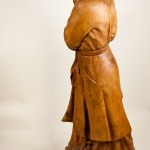 "Street Keeper, Sycamore, 59""x22""x18"", 1996. Carved at the Art Students League of New York from a trunk cut in Queens. The inspiration: a woman who walked at night to feed the neighborhood strays."