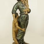 Figurehead, sycamore, 72x24x18, 1999. From a trunk obtained in Queens, the piece recalls nineteenth century pine carvings in the Metropolitan Museum.