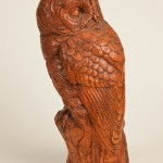 Barred Owl, Terra Cotta, 7x6x17, 1998 Cast from plaster original studied from life