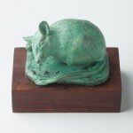 Spiny Mouse, bronze, 2.5x4x2.5, from 1993 model made at the National Zoo.