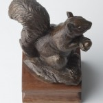 Squirrel, bronze, 5.5x5.5x3.5, cast from 1998 model.