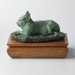Mara or Patagonian Hare, bronze, 6x4x3.5, from 2004 model studied from a lonely denizen of the National Zoo.